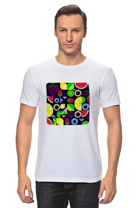 Футболка классическая Printio Виноград и другие фрукты и ягоды футболка wearcraft premium printio виноград и другие фрукты и ягоды
