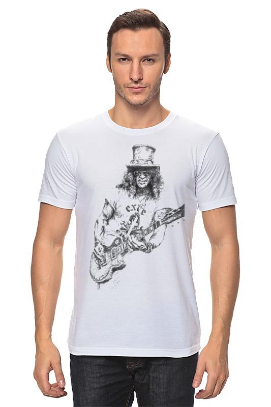 Футболка классическая Printio Slash slash neck scrawl print blouse