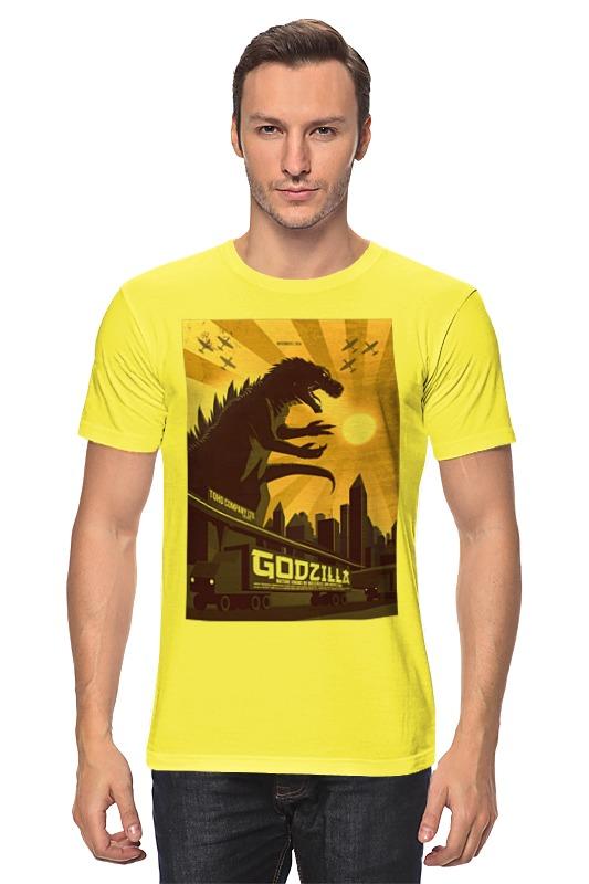 Футболка классическая Printio Godzilla yellow