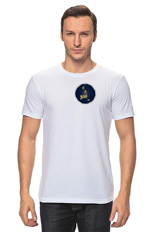 Футболка классическая Printio плоская земля (женская, белая) футболка женская белая