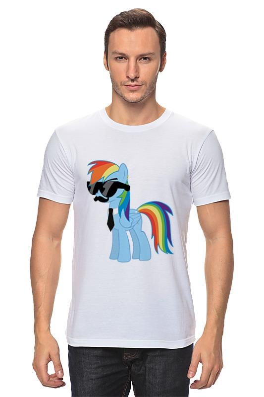 Футболка классическая Printio My little pony - rainbow dash (радуга) мульти пульти мягкая игрушка принцесса луна 18 см со звуком my little pony мульти пульти