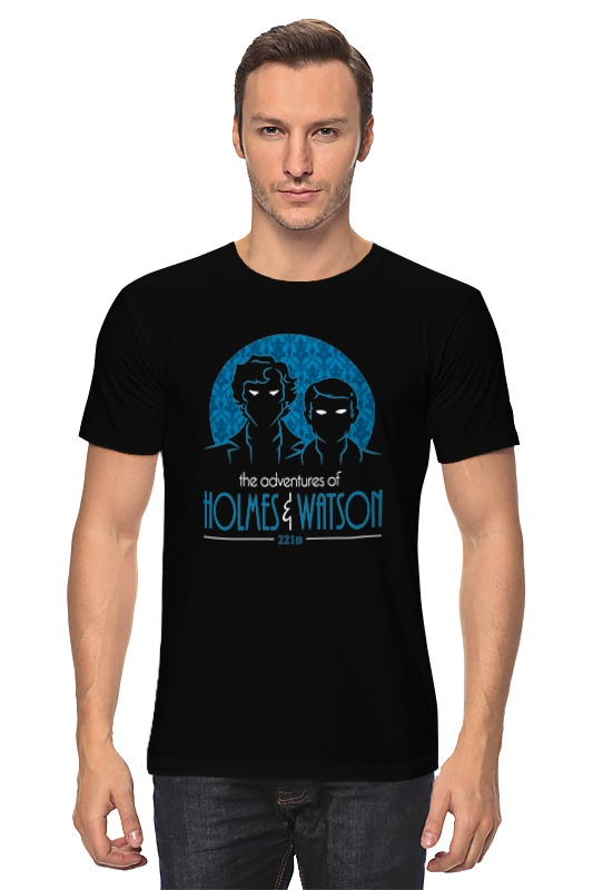 Футболка классическая Printio Шерлок холмс и доктор ватсон футболка стрэйч printio доктор кто х шерлок холмс