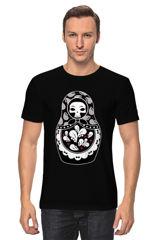 Футболка классическая Printio Матрешка скелет футболка стрэйч printio матрешка скелет