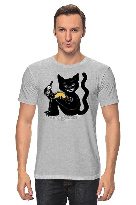 Футболка классическая Printio Наглый чёрной кот футболка классическая printio наглый чёрной кот