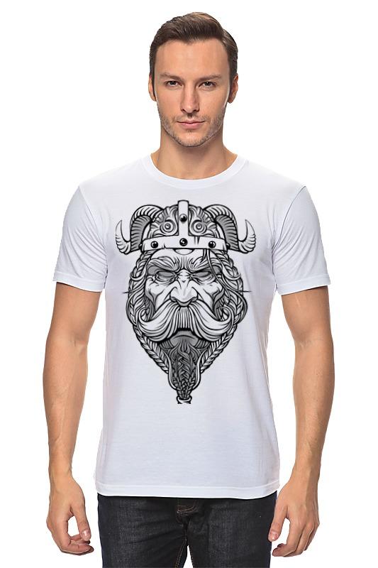 Футболка классическая Printio Старый викинг - мудрый воин! футболка wearcraft premium slim fit printio старый викинг мудрый воин