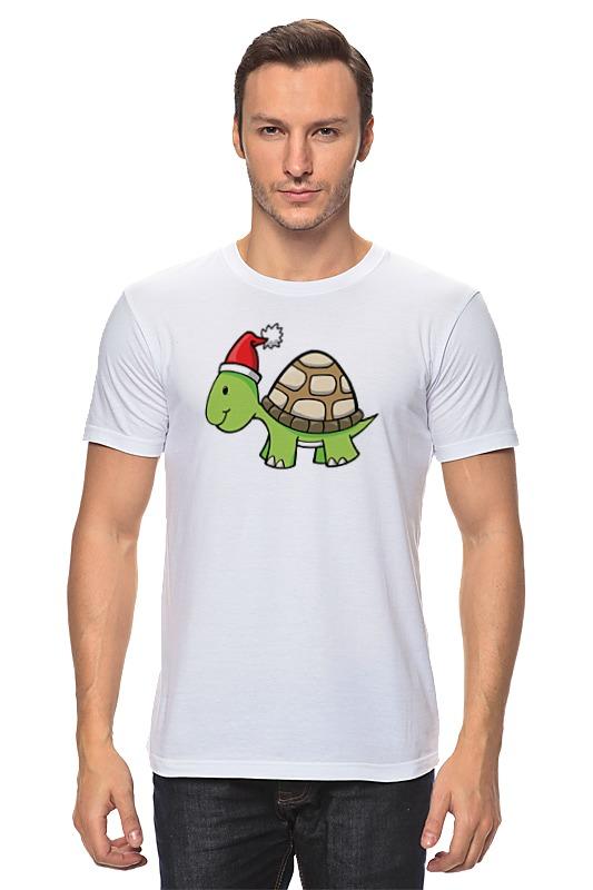 Футболка классическая Printio Новогодняя черепаха футболка классическая printio акварельная новогодняя забавная собака