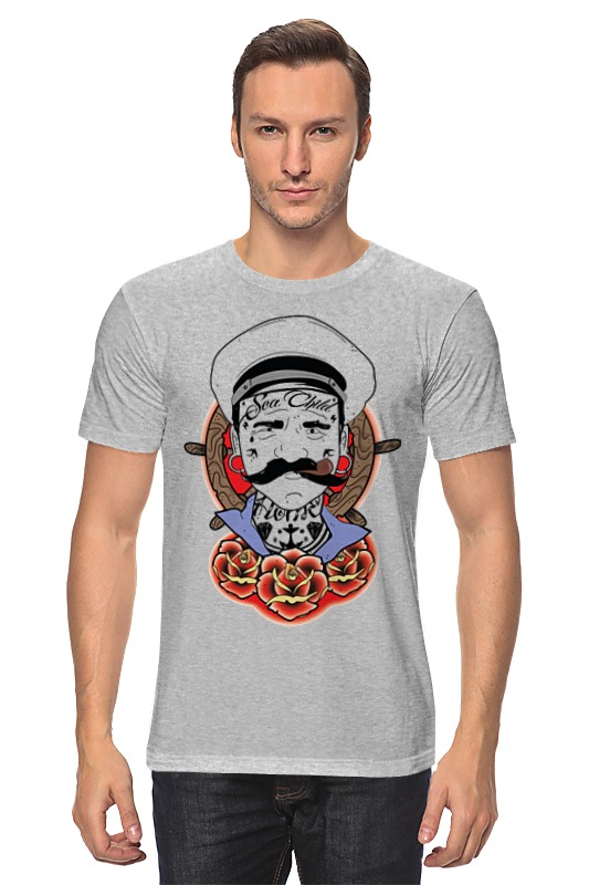Футболка классическая Printio Мужик с трубкой футболка print bar мужик илья