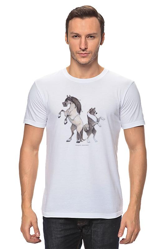 Футболка классическая Printio Якутская лошадь/якутская лайка