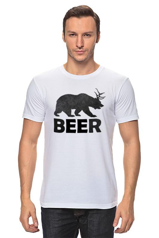 Футболка классическая Printio Beer (bear) лонгслив printio bear beer медведь и мед