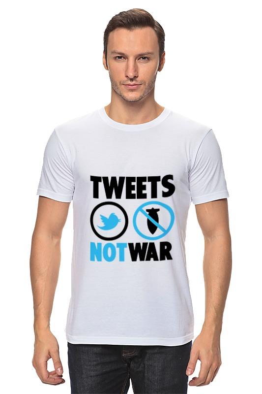Printio Tweets not war футболка классическая printio sweet tweets