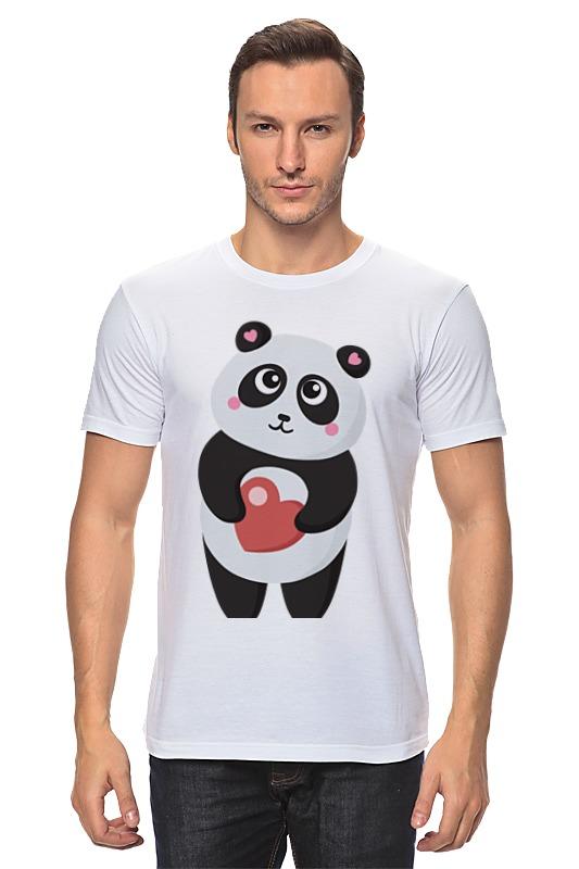 Футболка классическая Printio Панда с сердечком позиционеры для сна candide позиционер с подголовником воздухопроницаемая панда air