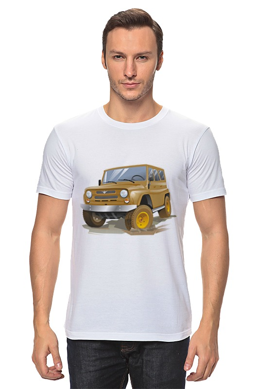 Футболка классическая Printio Автомобиль уаз автомобиль уаз 469 в спб