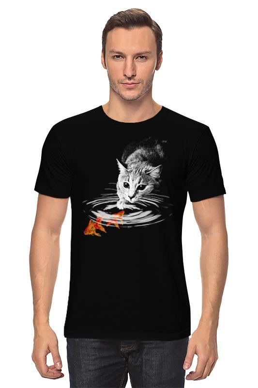 Футболка классическая Printio Кот и рыбки футболка классическая printio рыбки