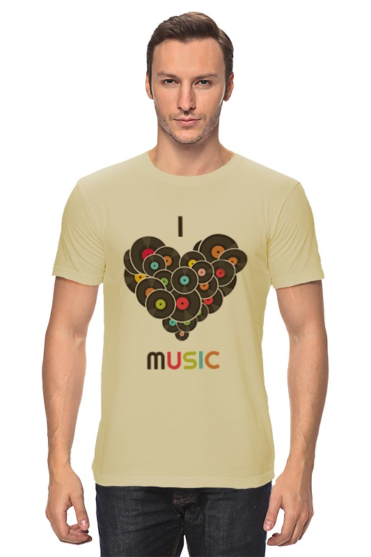 Футболка классическая Printio I love music майка классическая printio love music