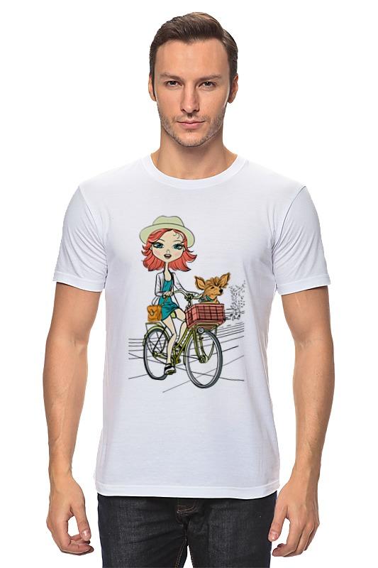 Футболка классическая Printio Девушка с собачкой футболка классическая printio девушка с камерой
