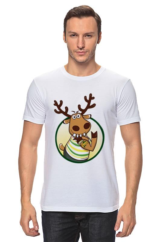 Футболка классическая Printio Подслушано олень с тату футболка классическая printio подслушано олень с тату