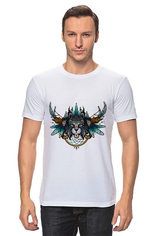 Футболка классическая Printio Рысь шаман футболка wearcraft premium slim fit printio рысь шаман