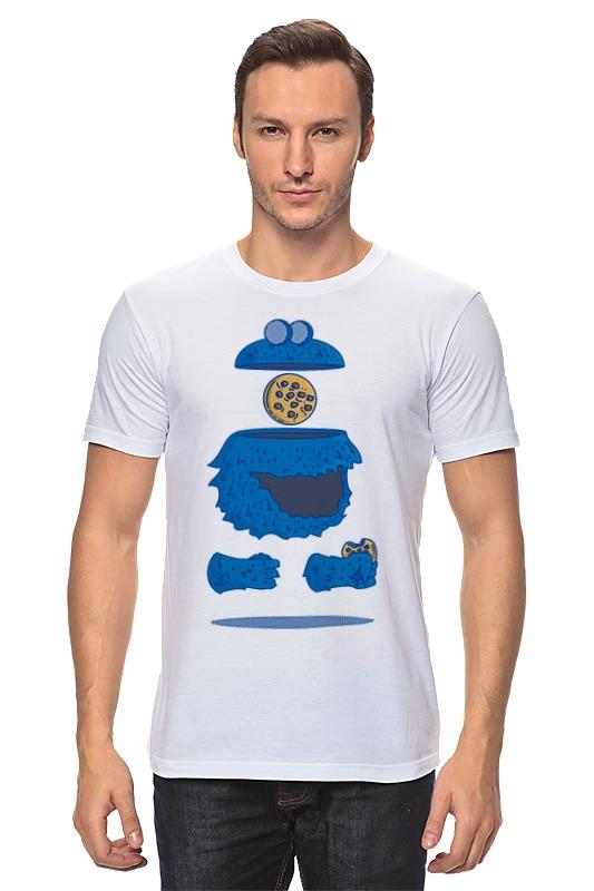 Футболка классическая Printio Печеньковое чудовище футболка рингер printio печеньковое чудовище