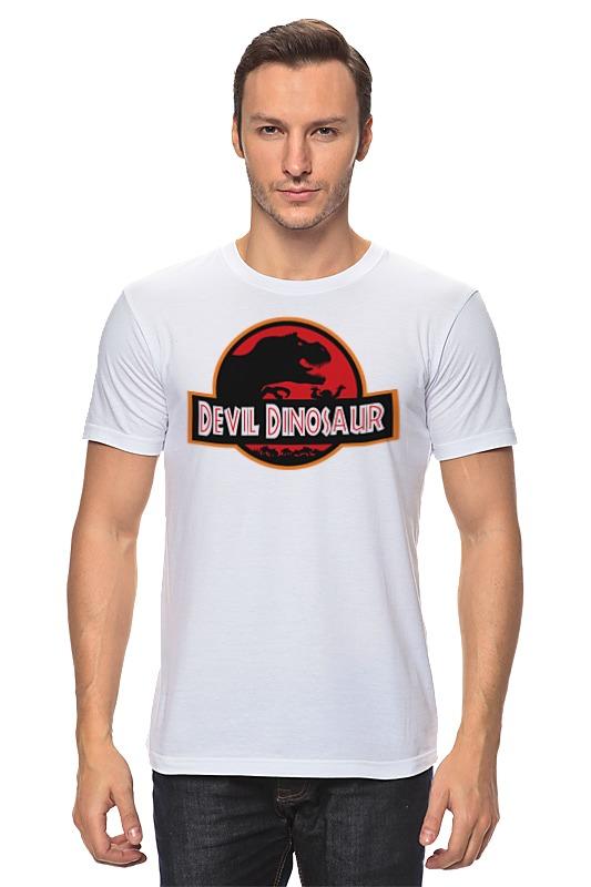 Футболка классическая Printio Дьявол динозавр (парк юрского периода) майка классическая printio динозавр парк юрского периода