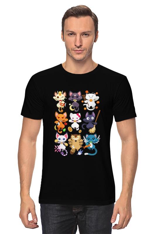 Футболка классическая Printio Коты и кошки (cats)