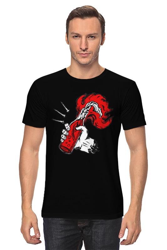 Футболка классическая Printio Коктейль молотова футболка wearcraft premium slim fit printio коктейль молотова