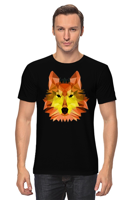 Футболка классическая Printio Полигональный волк футболка классическая printio тамбовский волк тебе товарищ