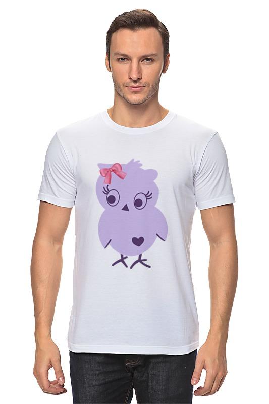 Футболка классическая Printio Фиолетовая птичка птичка в вышине