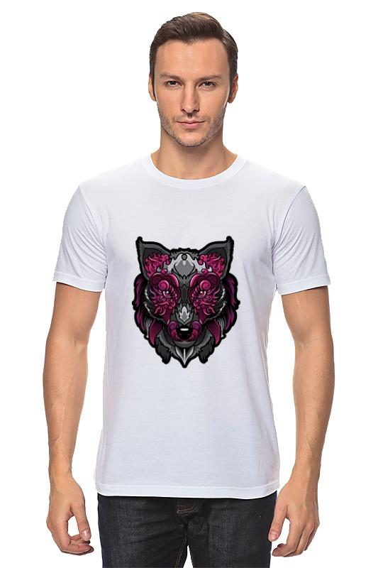 Футболка классическая Printio Красочный волк ostin футболка с ярким принтом