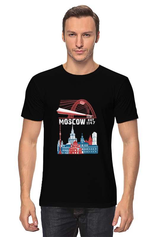 Футболка классическая Printio Москва. moscow. establshed in 1147 (1) faithless live in moscow