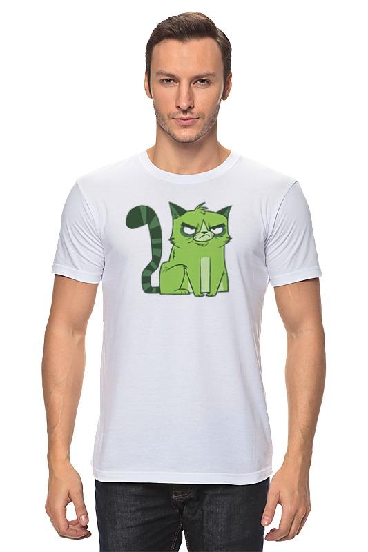 Футболка классическая Printio Сердитый котик недорого