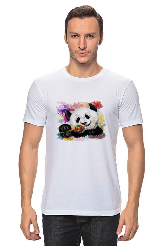 Футболка классическая Printio Панда с леденцом позиционеры для сна candide позиционер с подголовником воздухопроницаемая панда air