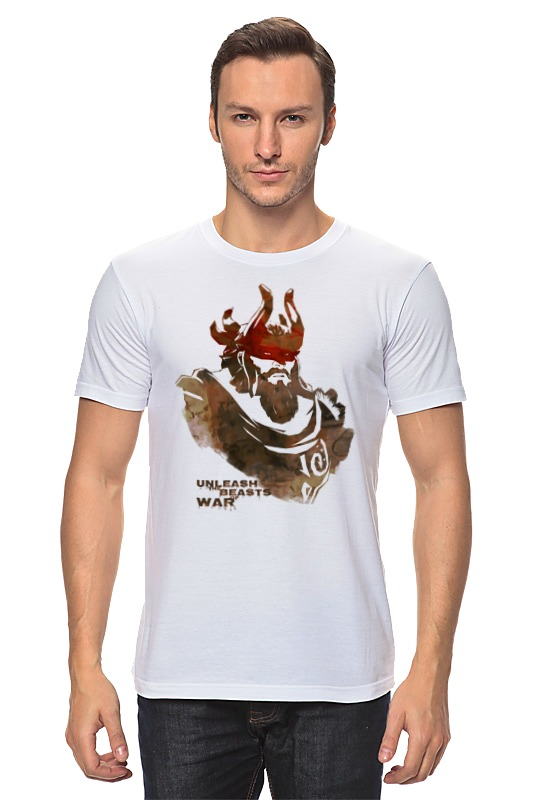Футболка классическая Printio Dota 2 beastmaster (with text) футболка wearcraft premium slim fit printio dota 2 beastmaster with text