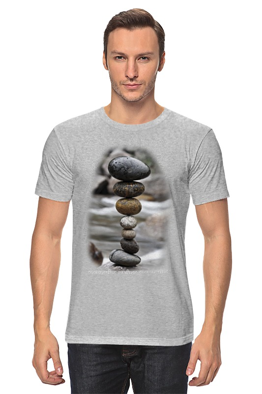 Футболка классическая Printio Каменные пирамидки. спокойствие... #3