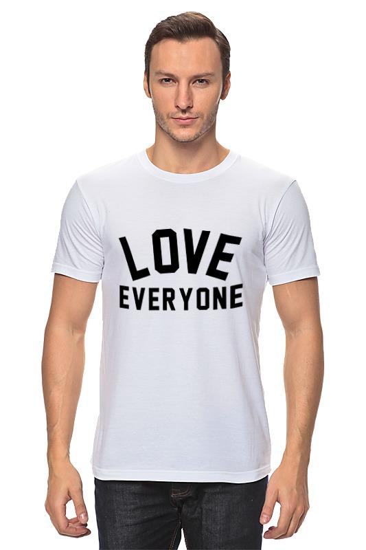 Футболка классическая Printio Любить всех футболка для беременных printio любить всех