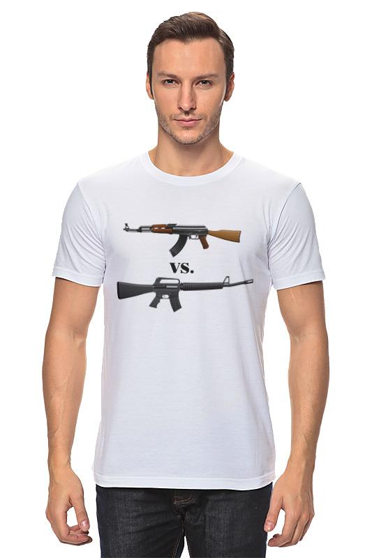 Футболка классическая Printio Ак vs. м16