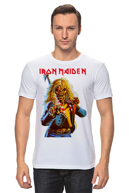 Футболка классическая Printio Iron maiden band cd iron maiden a matter of life and death