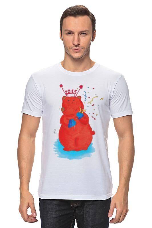 Футболка классическая Printio Новогодний медведь футболка классическая printio новогодний лось
