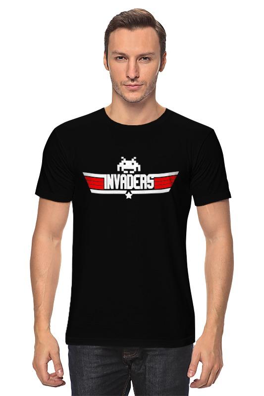 Футболка классическая Printio Invaders x top gun футболка asics футболка layering top