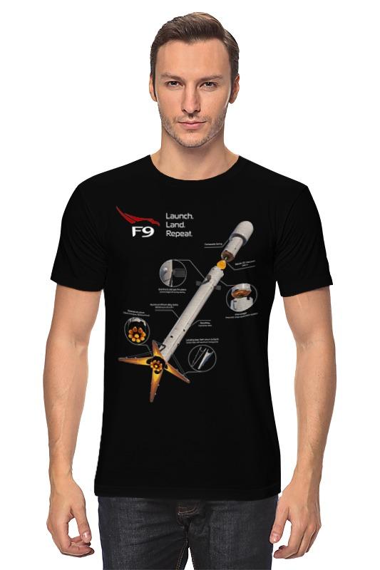 Футболка классическая Printio Launch. land. repeat. (1 сторона) launch