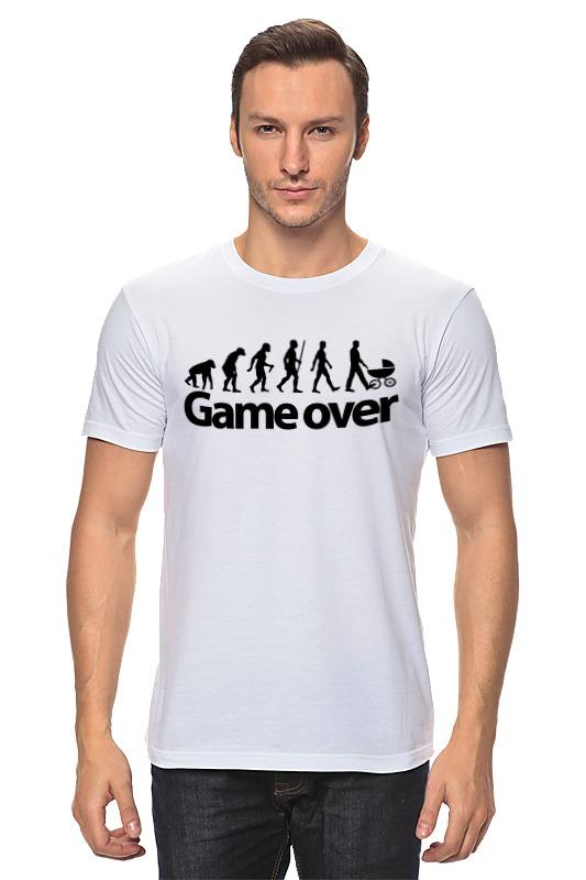 Фото - Футболка классическая Printio Game over (игра окончена) футболка рингер printio любовь окончена