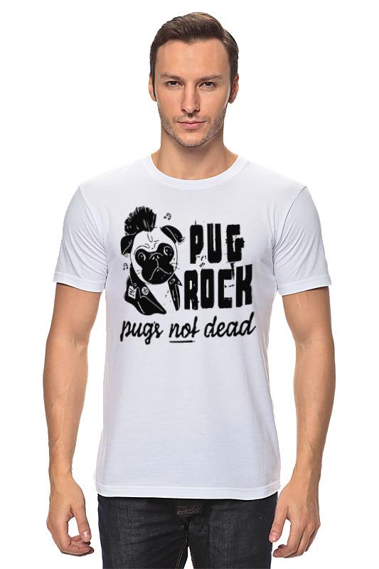 Футболка классическая Printio Pug rock майка классическая printio pug rock