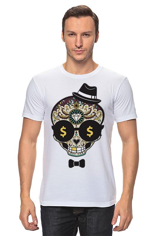 Футболка классическая Printio Череп в шляпе и бабочке футболка классическая printio девушка в шляпе
