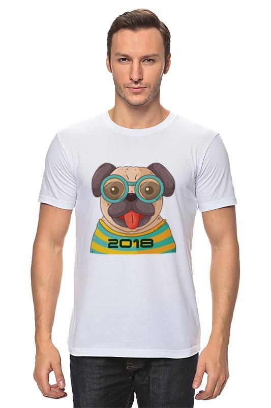 Футболка классическая Printio Crazy dog (год можно стереть) сумка printio gta 5 dog
