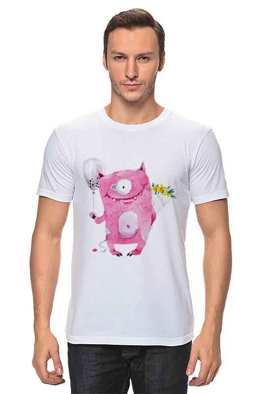 Футболка классическая Printio Милый розовый монстр футболка miamoda klingel цвет белый розовый полоска
