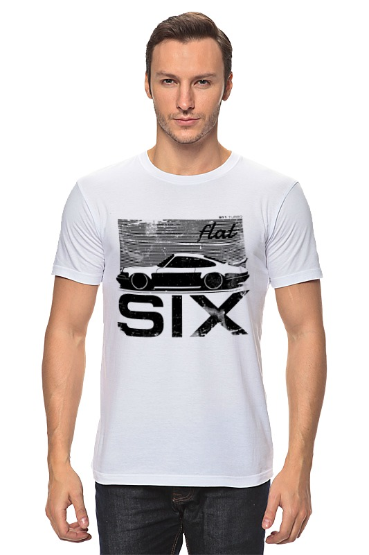 Футболка классическая Printio Porsche carrera 911 flat six stance туфли six