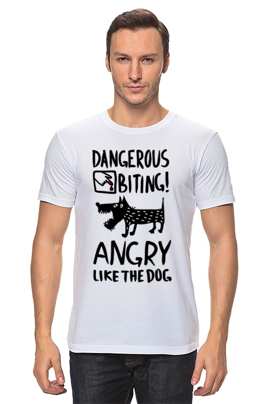 Футболка классическая Printio Статус: злой, как собака! футболка стрэйч printio статус злой как собака