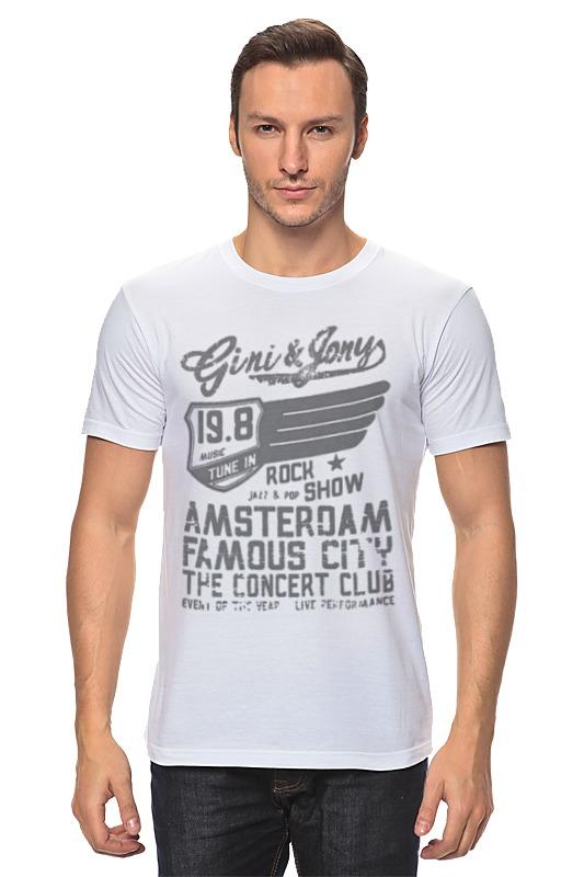 Футболка классическая Printio Gini & jony boy amsterdam rock show футболка lin show 370