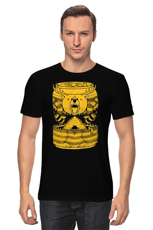 Футболка классическая Printio Bear beer /медведь и мед сумка printio beer bear