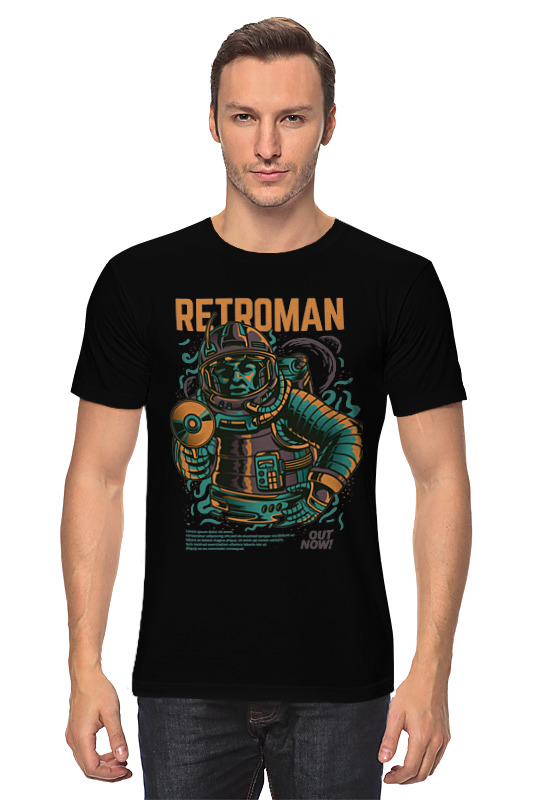 Футболка классическая Printio Retroman футболка классическая printio портрет космонавта