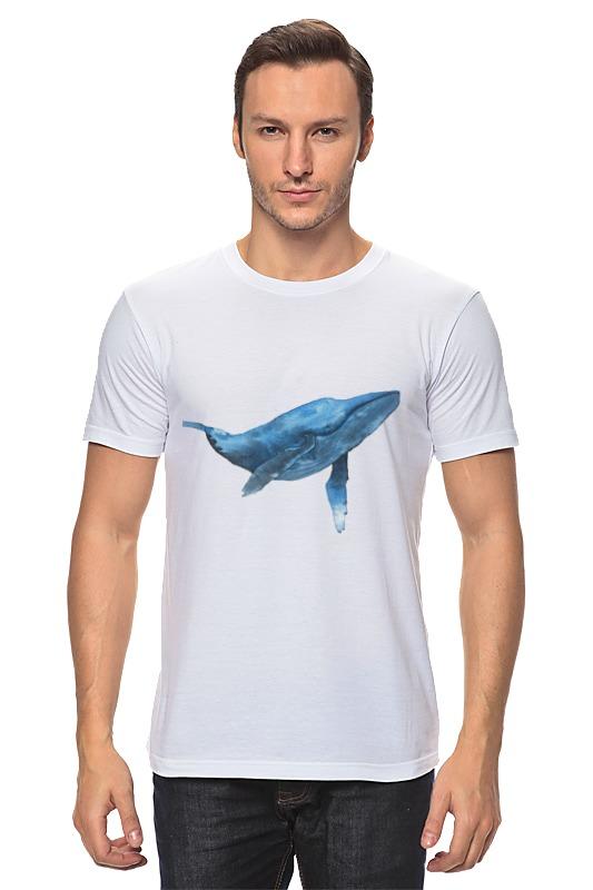 Футболка классическая Printio Синий кит футболка для беременных printio кит ричардс